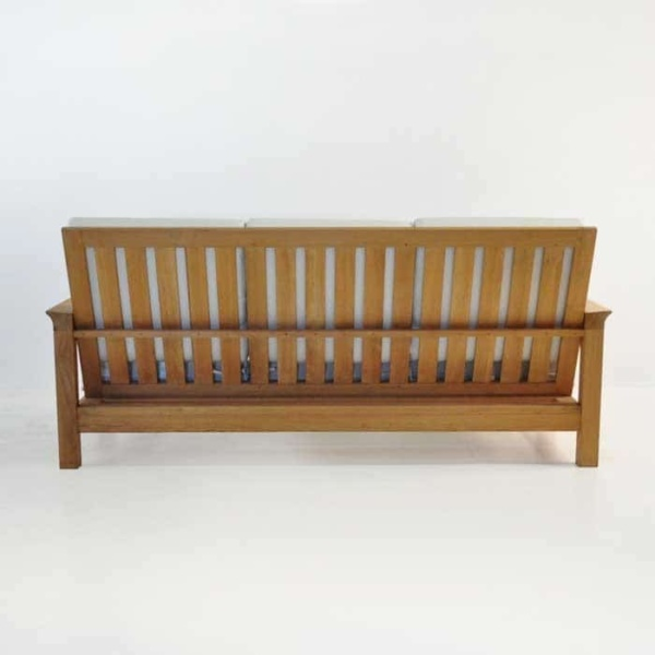 monterey teak sofa rear view