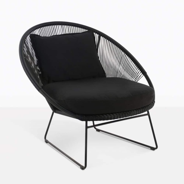 natalie outdoor relaxing lounge chair black with cushions
