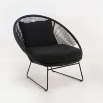 Natalie Outdoor Relaxing Lounge Chair (Black)-0