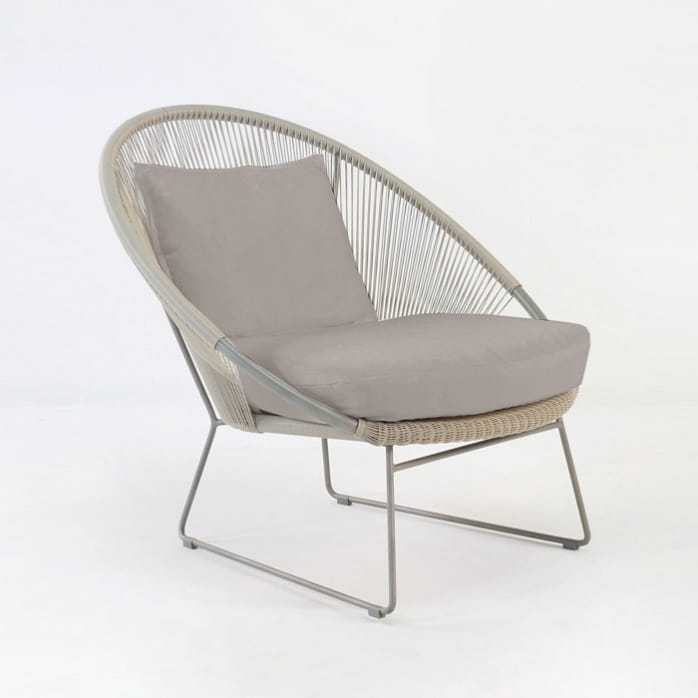 Natalie Outdoor Relaxing Lounge Chair (Taupe)-0