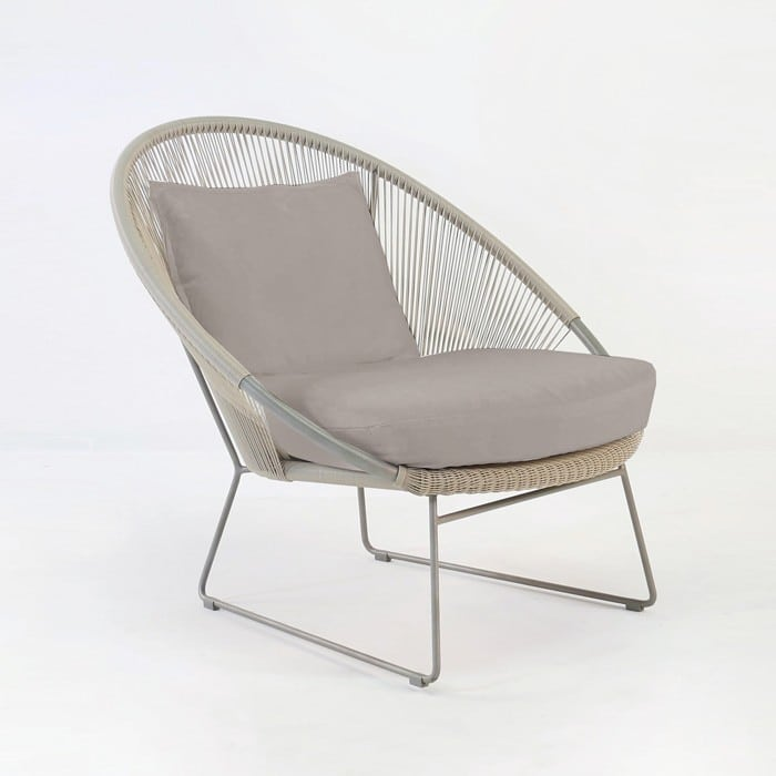 Natalie outdoor relaxing lounge chair taupe design for Relaxing chair design
