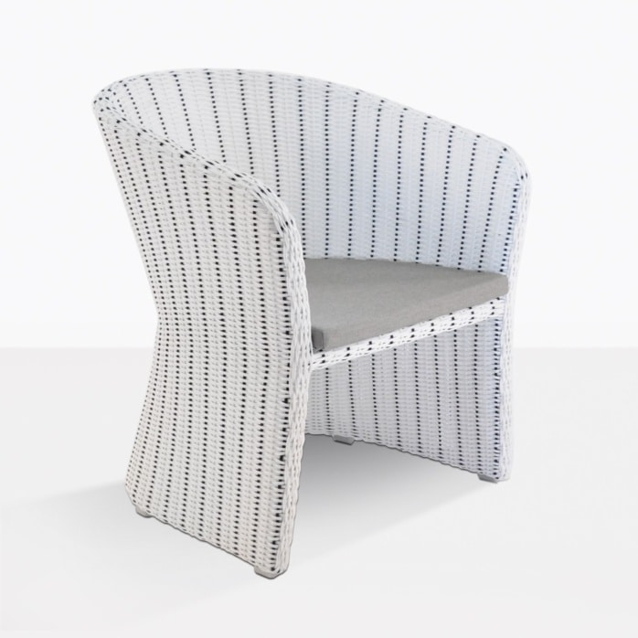 nautical wicker dining chair
