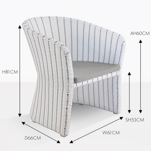nautical wicker woven dining chair