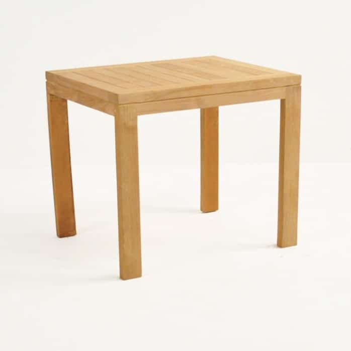 Teak Nesting Tables (Large) front angle view