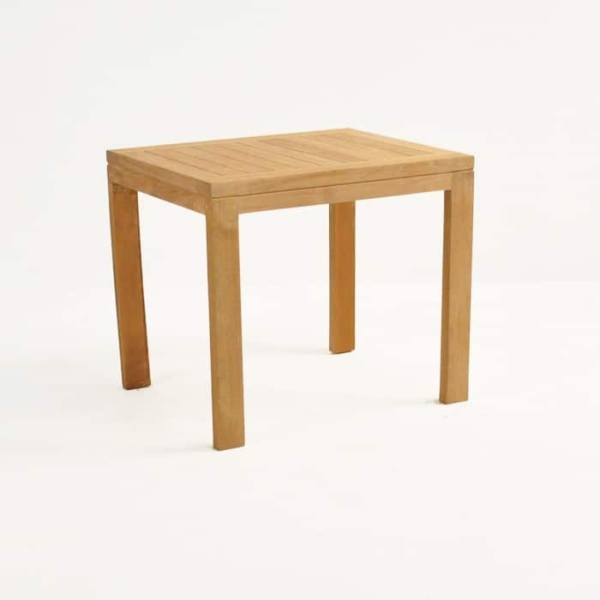 Teak Nesting Tables (Medium) front angle view