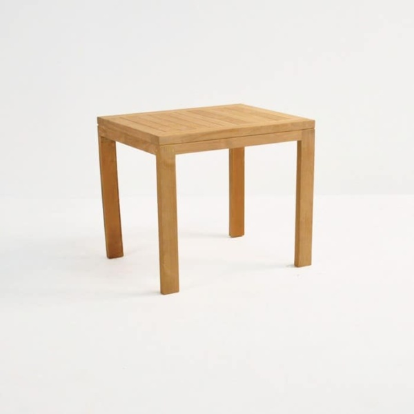 Teak Nesting Tables (Small) front angle view