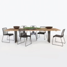 outdoor dining set with 6 chairs