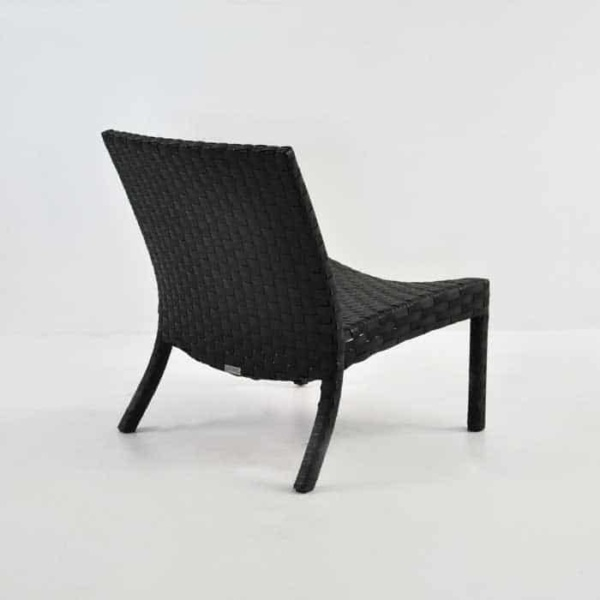 Outdoor Wicker Relaxing Chair back angle view