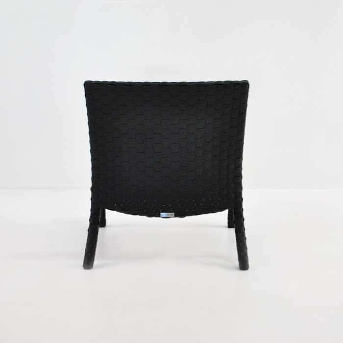 Outdoor Wicker Relaxing Chair back view
