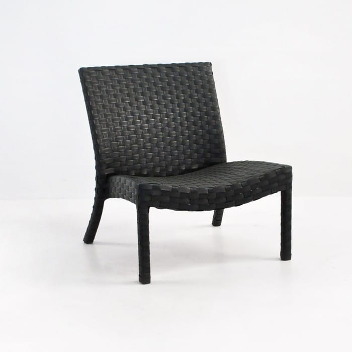 Outdoor Wicker Relaxing Chair angled view