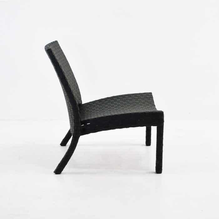 Noir Outdoor Wicker Relaxing Chair Garden Furniture Design Warehouse