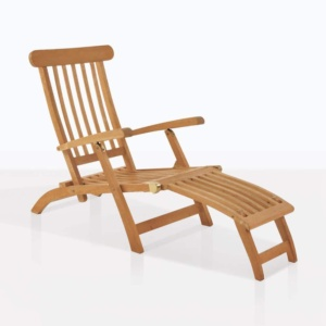 normal teak steamer sun lounger chair