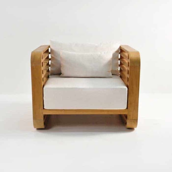 ocean teak club chair front view