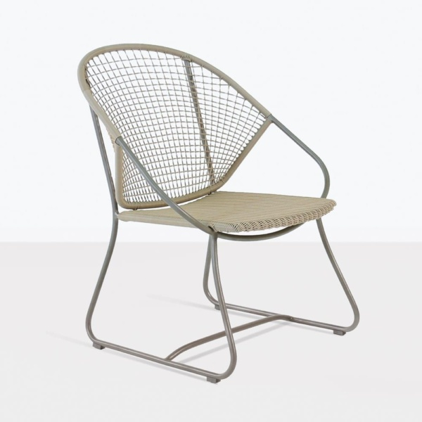 omega wicker relaxing arm chair angle