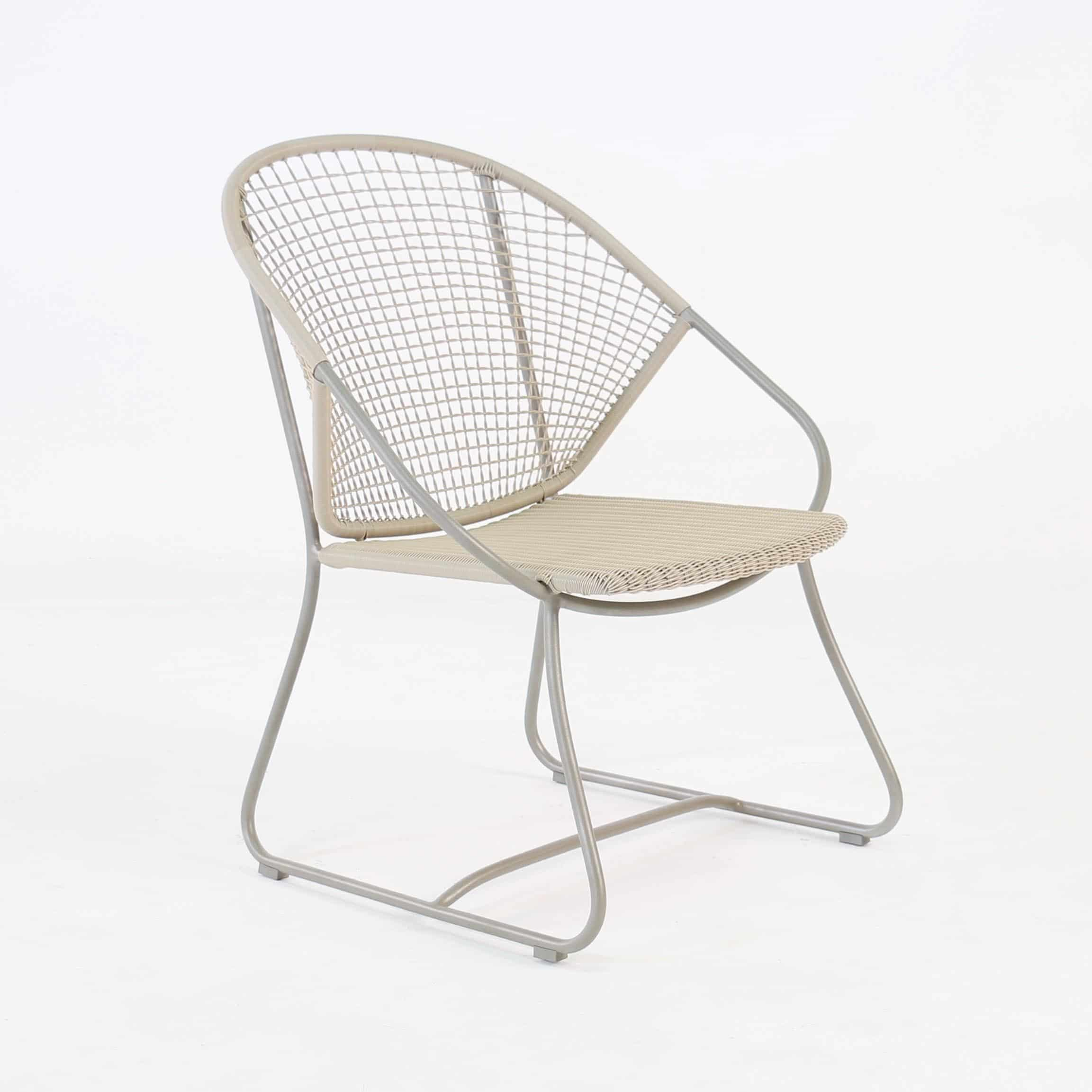 Outdoor Wicker Relaxing Arm Chair angled view