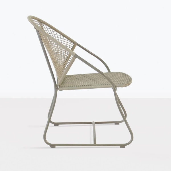 omega wicker relaxing arm chair side