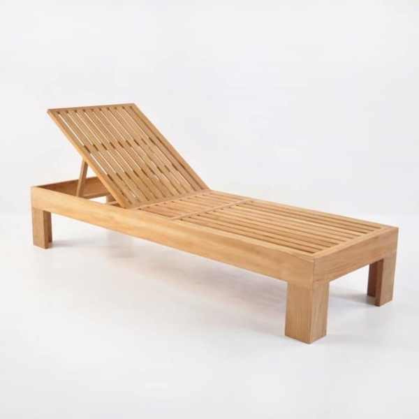 Palm Teak Sun Lounger
