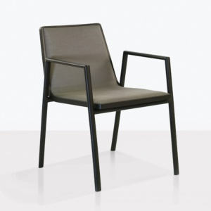Panama aluminum dining chair angle outdoor