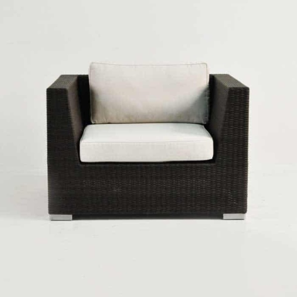 Outdoor Wicker Club Chair Java front view