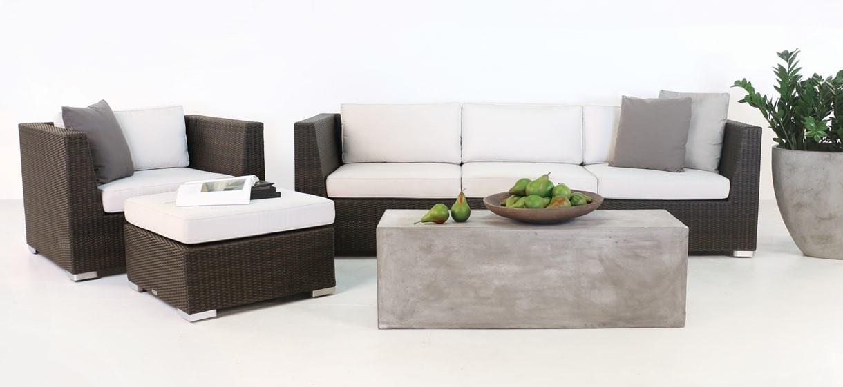 Paulo Java Wicker Sofa, Chair and Ottoman