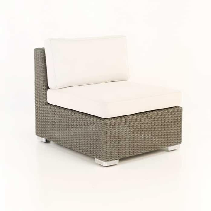 Paulo Outdoor Wicker Sectional Center angle view