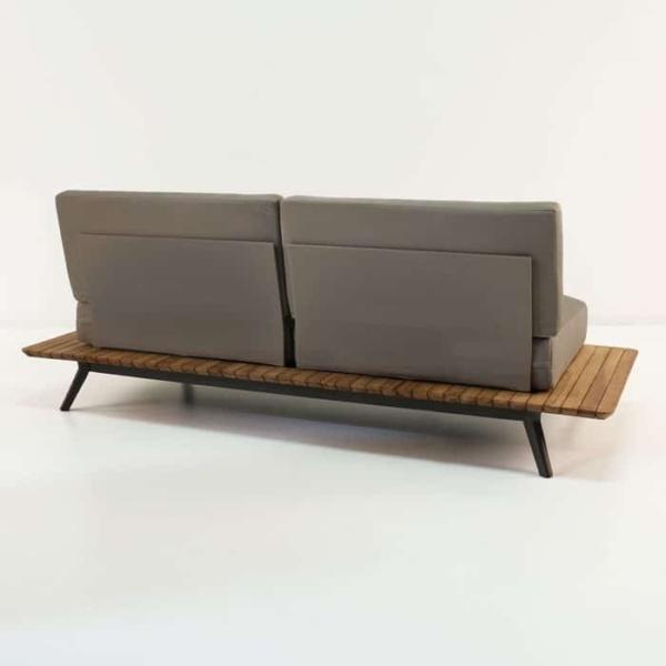 platform reclaimed teak sofa rear view