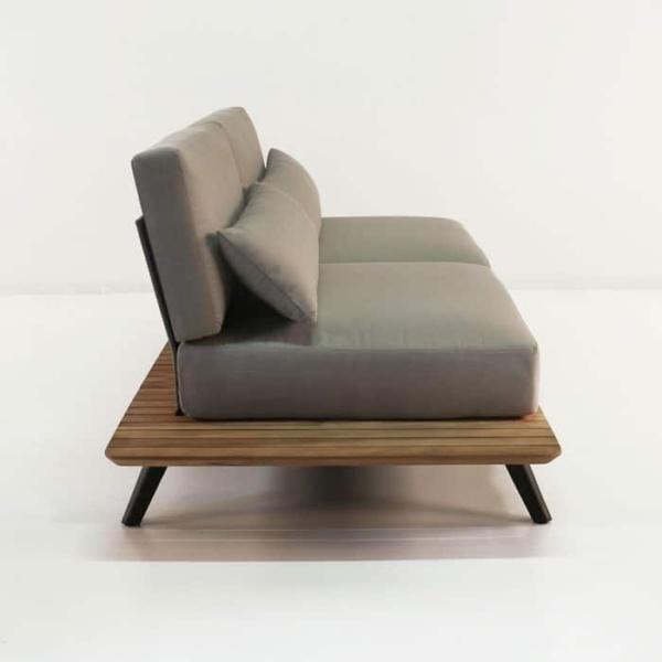 platform reclaimed teak 2 seater sofa