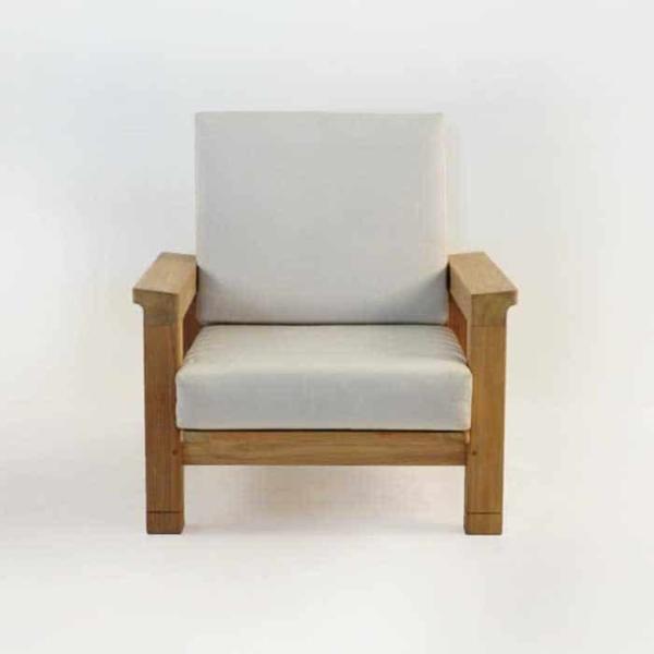 raffles teak club chair front view