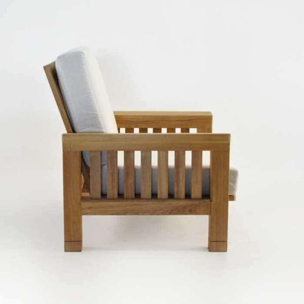 raffles teak club chair side view