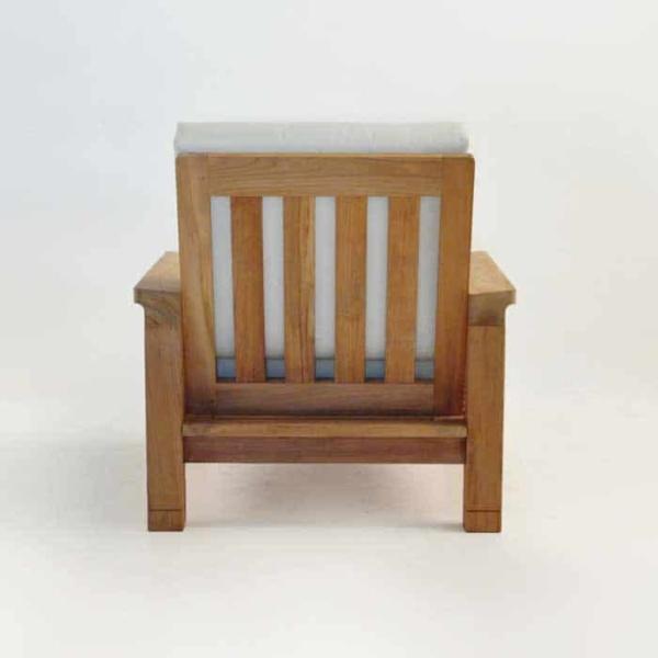 raffles teak club chair rear view