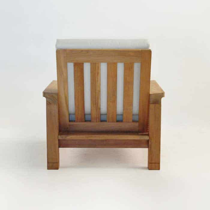 raffles teak club chair rear view