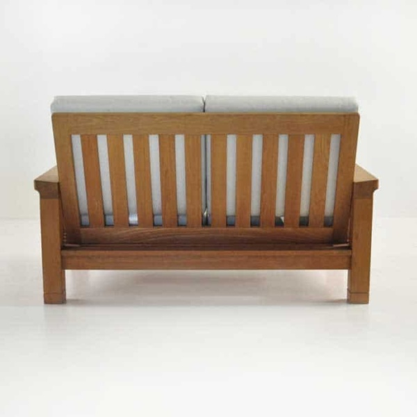 raffles teak loveseat rear view