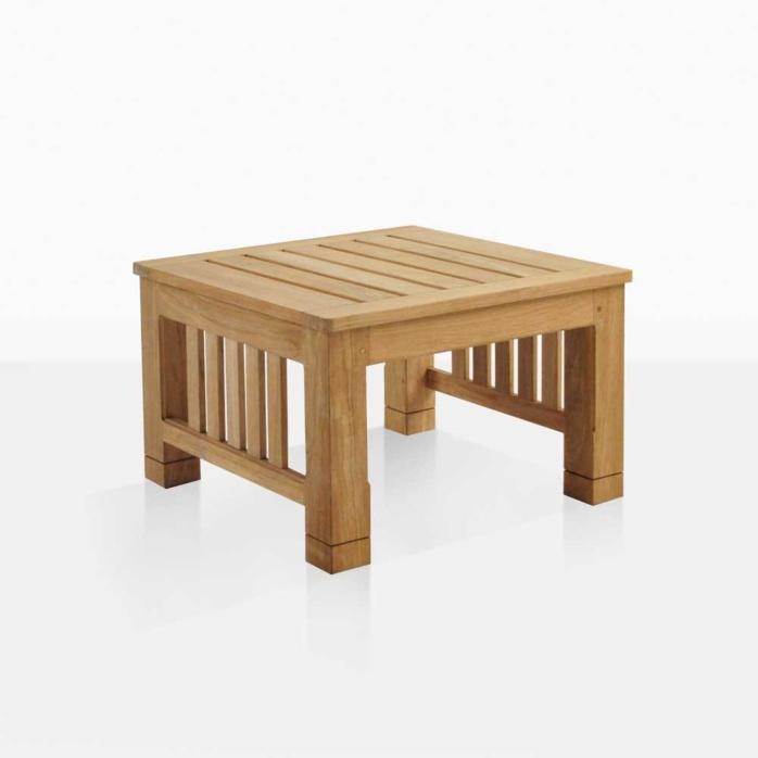 raffles small coffee teak table side table angle