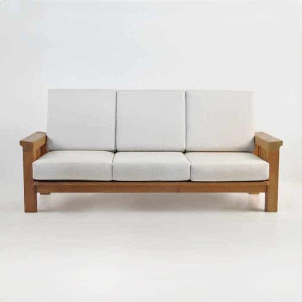 raffles teak sofa front view