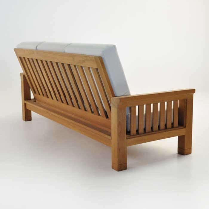 raffles teak sofa back angle view