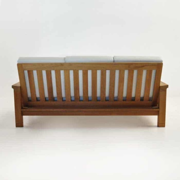 raffles teak sofa rear view