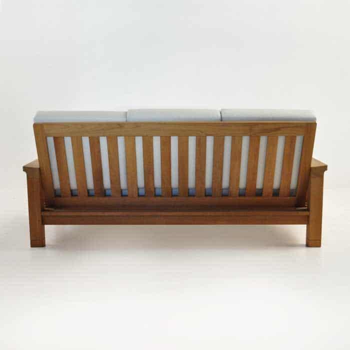 raffles teak sofa rear view