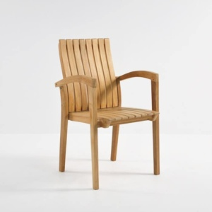 Raffles Teak Stacking Dining Chair-0