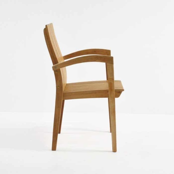 Raffles Teak Stacking Dining Chair-496