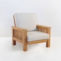 raffles teak club chair with sunbrella cushions