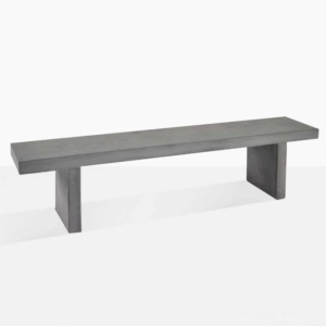 raw concrete outdoor bench angle