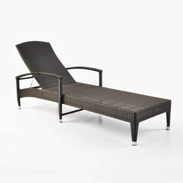 Roberto Outdoor Wicker Sun Lounger (Java)-957