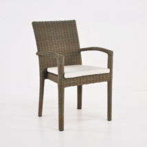 Romansa Wicker Dining Arm Chair (Kubu)-0