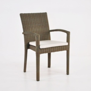 Romansa Wicker Dining Arm Chair (Kubu)-0