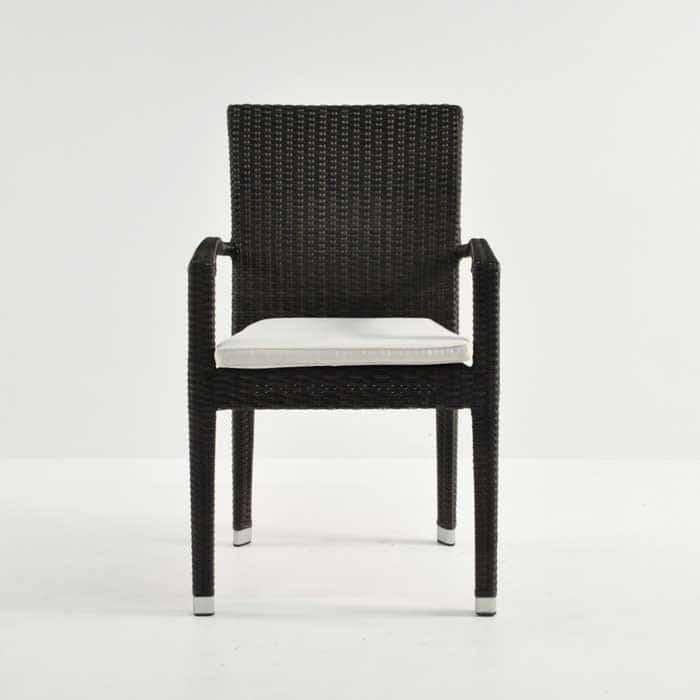 Romansa Wicker Dining Arm Chair (Java)-499