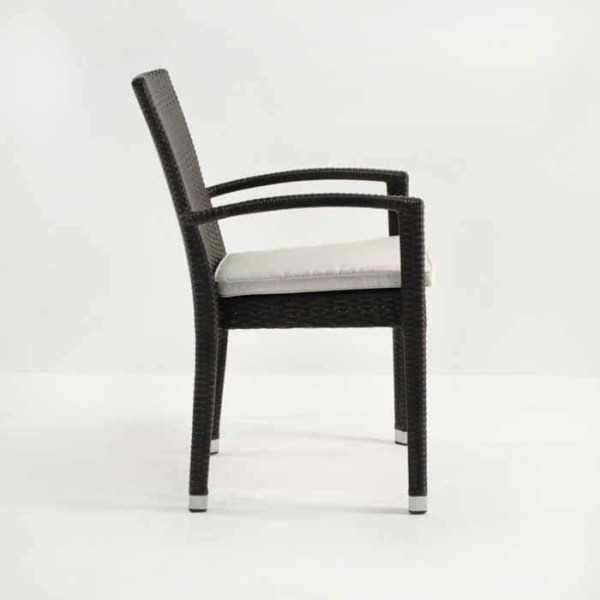 Romansa Wicker Dining Arm Chair (Java)-498