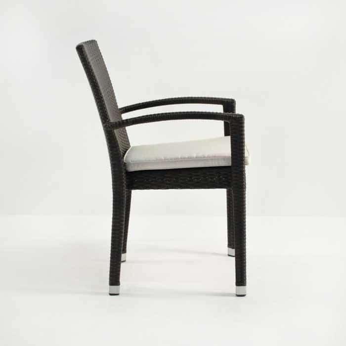 Romansa Wicker Dining Arm Chair (Java)-498