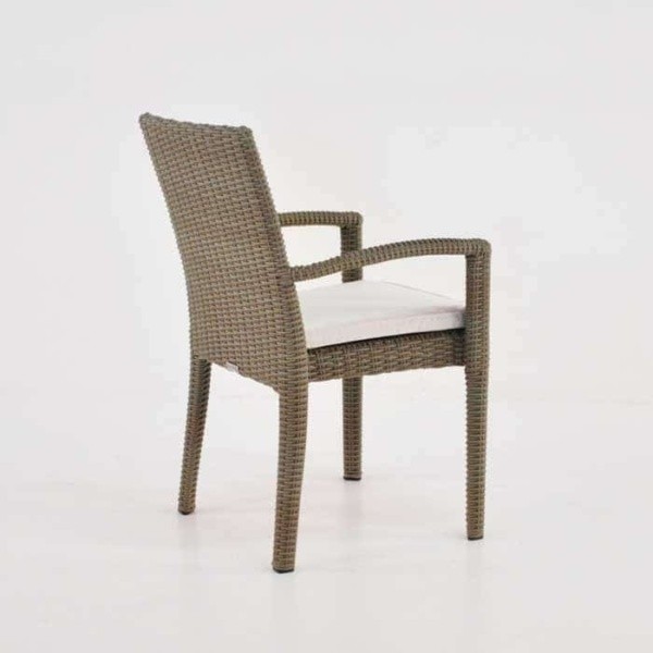 Romansa Wicker Dining Arm Chair (Kubu)-503