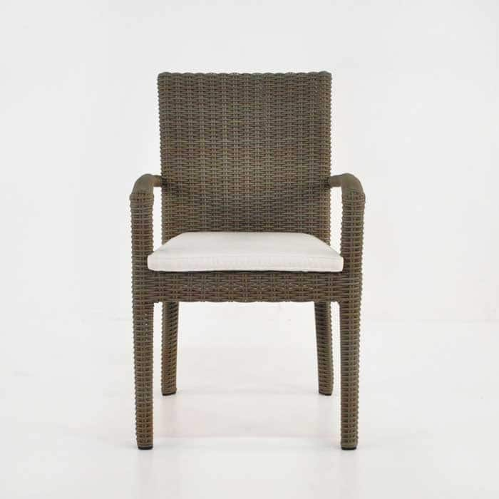 Romansa Wicker Dining Arm Chair (Kubu)-505