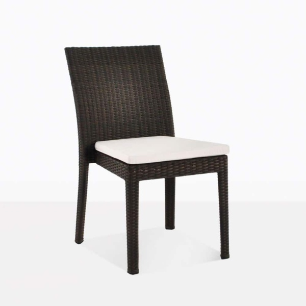 Romansa side wicker outdoor dining chair